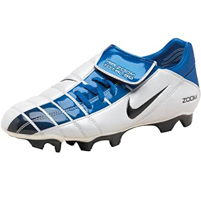 00b43be36 Nike Junior Air Zoom Total 90 II Football Boots White/Blue: Amazon.co.uk:  Shoes & Bags