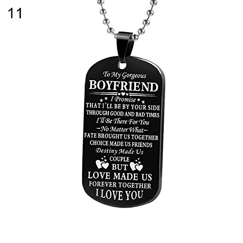 Finance Plan- Fashion Letter Husband Wife Girlfriend Boyfriend Tag Pendant Necklace Keychain