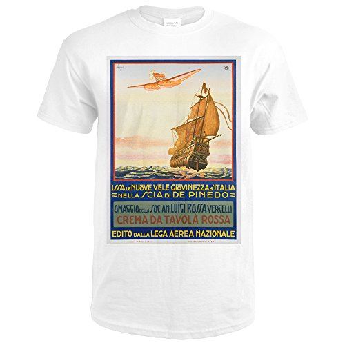Crema Wall (Crema Da Tavola Rossa Vintage Poster (artist: Cavigiol) Italy (Premium White T-Shirt XX-Large))