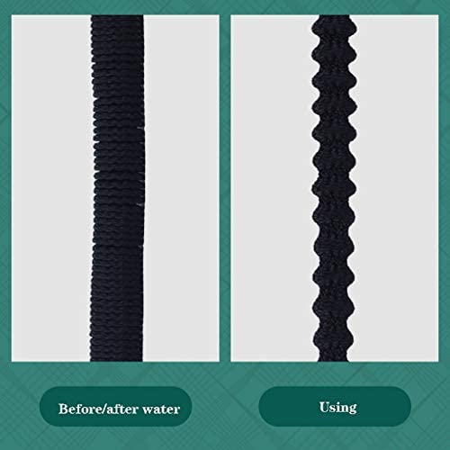 Key Telescopic Garden Hose, Flexible Hose Expandable, Water Hose With Solid Brass Hose Fittings And 9 Functions Spray Nozzle, Black 25FT /50FT/75FT /100FT(Size:15m)