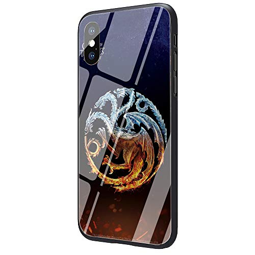 for iPhone - The Game of The Thrones Tempered Glass TPU Black Cover Case for iPhone 5 5S 6 6s 7 8 Plus X XR XS Max - by Aquaman Store - 1 PCs