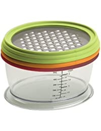 Favor Progressive International HG-83 4-Piece Grate and Store Cheese Grating and Storage dispense