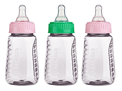 Gerber Graduates 78769 First Essentials Clear View Bottle, Slow Flow, 3 Count, Colors May Vary