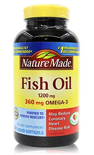 Nature Made Fish Oil 1200 mg w. Omega-3 360 mg Softgels, 400 Count