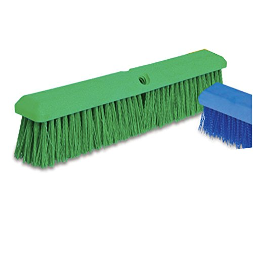 Malish 37158 Green 18'' Push Broom Head