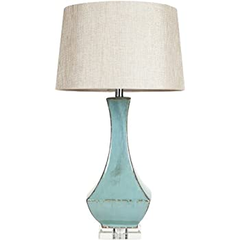 Surya LMP 1004 Table Lamp, 30 By 16 By 16 Inch, Turquoise