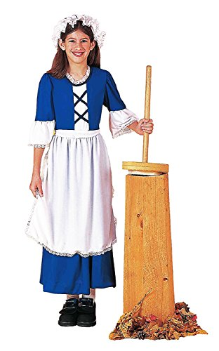 [Forum Novelties Kids Colonial Girl Costume, X-Large, Multicolor] (Colonial Dress For Girls Costumes)