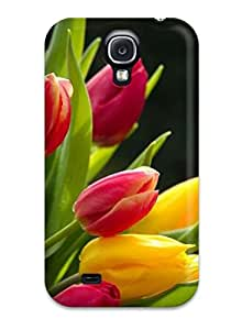 Galaxy Protective Case High Quality For Galaxy S4 Tulips Flower Skin Case Cover