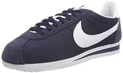 Nike Australia Women's Classic Cortez Nylon Trainers, Obsidian/White, 6 US