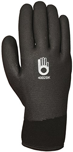 Bellingham C4002BKS Insulated Thermal Knit Work Glove, HPT PVC Water Repellent Palm, Small, ()