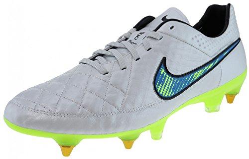 Nike Soccer Tiempo Legend V SG Pro White Volt Solar Black White volt solar black
