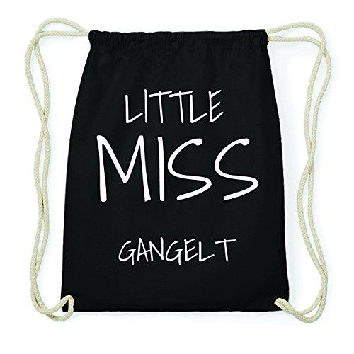 JOllify GANGELT Hipster Turnbeutel Tasche Rucksack aus Baumwolle - Farbe: schwarz Design: Little Miss