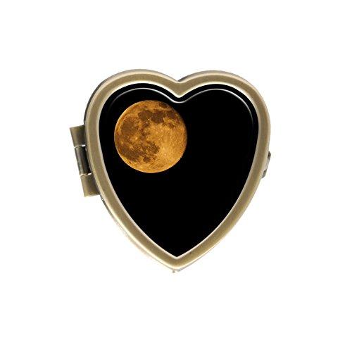 Hiuyi Honey Moon Full Moon Custom Personalized Heart Shaped Pill Box Pocket Wallet Travel Pill Vitamin Decorative Box Protector