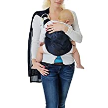 Cuby Breathable Baby Carrier Mesh Fabric, Ideal For Summers/ Beachhe Adjustable Ring Sling Baby Carrier. Ergo Friendly (Deep blue)
