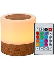 Duotar Night light Luz noturna Leds de mesa coloridos luz noturna quarto cabeceira USB tocante RGB abajur com controle remoto Leds luz noturna colorida