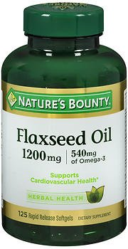 Nature's Bounty Flax Oil 1200 mg - 100 Softgels, Pack of 6 by Nature's Bounty