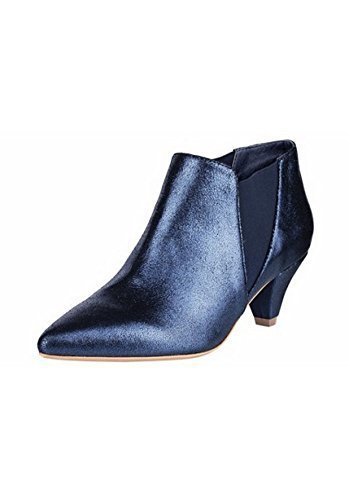 Patrizia Dini Ankle Boot Women from Leather of Night Blue 1UNvd2pe1
