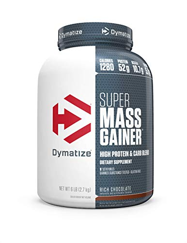 Dymatize Super Mass Gainer Protein Powder with 1280 Calories Per Serving, Gain Strength & Size Quickly, Rich Chocolate, 6 lbs