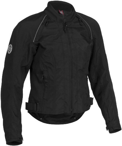 Firstgear Contour Tex Women's Textile Motorcycle Jacket (Black, Small)