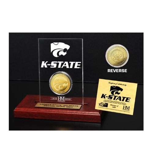 (The Highland Mint NCAA Kansas State Wildcats Etched Acrylic Coin, 9