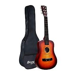 30 Inch Acoustic Guitar 1/2 Half Size Adult Kids Beginners Child Guitar Steel Strings Guitars with Gig Bag (Sunburst)