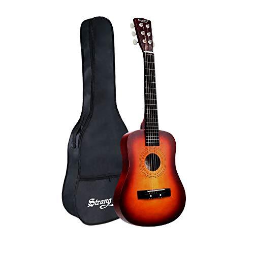 30 Inch Acoustic Guitar,1/2 Size Mini Guitars Instrument Beginner Kit for Kids/Beginners/Child with Gig Bag Natural Guitar (Sunburst)