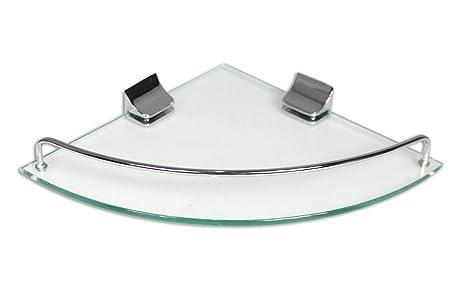 Vetrineinrete mensola angolare per doccia in vetro lucido