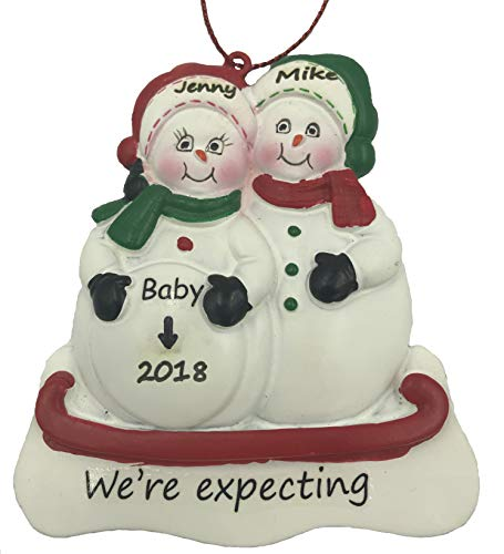 - Personalized Expecting Couple Pregnant Snowman Christmas Ornament 2019