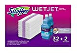 Swiffer Wetjet Mopping Refill Pack, 32 Refill Pads plus 2 Bottles of Cleaner 1.25L ea.