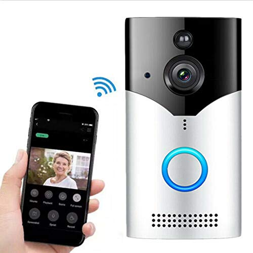 WiFi Smart Video Doorbell,EwiseeLive Wireless Door Bell Smart Home 720P HD WiFi Camera Security with Two-Way Talk & Video,PIR Motion Detection, Night Vision for iOS Android Google