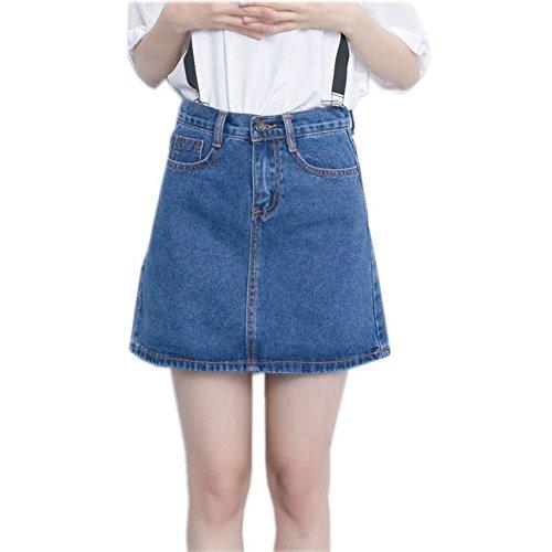 flourish-new-new-summer-women-skirt-a-line-high-waist-short-vintage-mini-jeans-skirt-blue-l