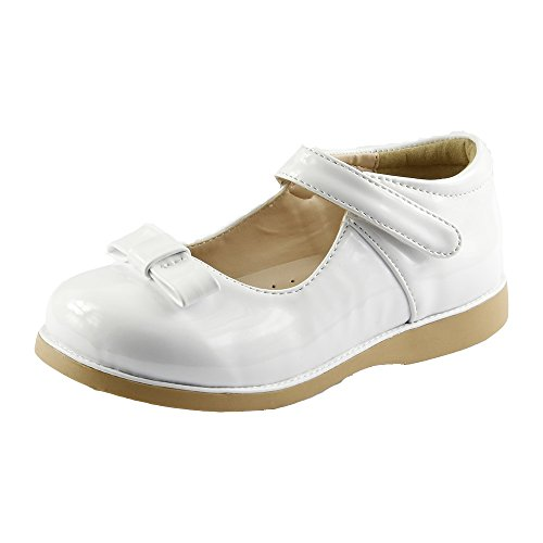 Girl's Classic Dress Shoes - FBA173054D-8 (Toddler Shoes Dress White)