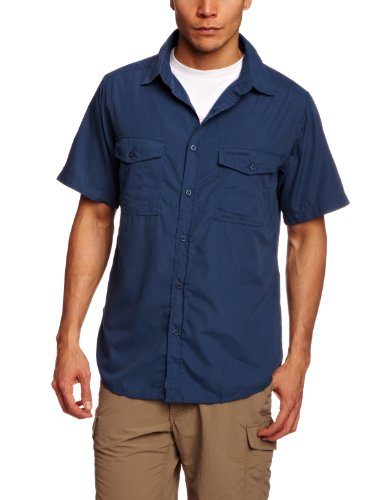 Craghoppers Herren Outdoor Reise Kiwi Kurzarm Hemd, Faded Indigo, XL, CMS339   1VE80