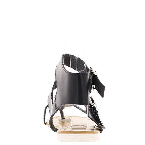 Barfuß, schwarze Ferse 2cm mit Knöchel und Entre-Doigt Flansche