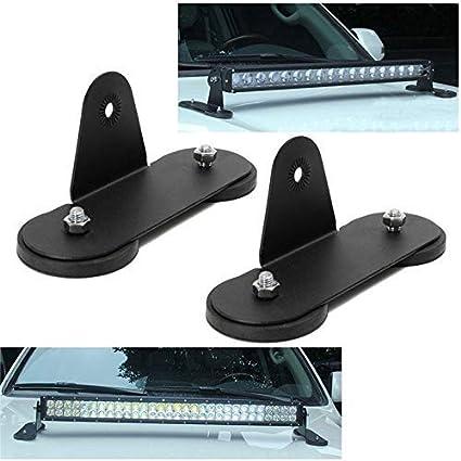 1 Pair SZYZ 1pair Barra de Luz LED Soporte Magn/ético Luz de Trabajo Soporte para Todoterreno Veh/ículos 4Wd Cami/ón SUV Parachoques Soportes como Imagen Mostrar