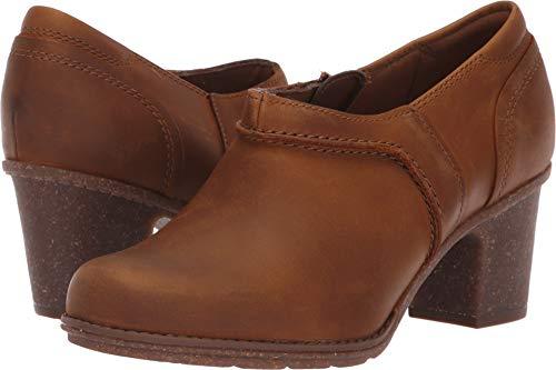 CLARKS Women's Sashlin Aleta Fashion Boot, Dark tan Leather, 090 M ()