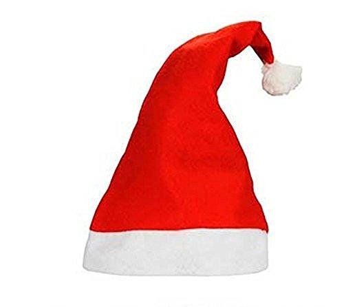 Felt Santa Claus Hat Christmas Xmas 5 10 20 25 50 100 Pack (Pack of 100) ()