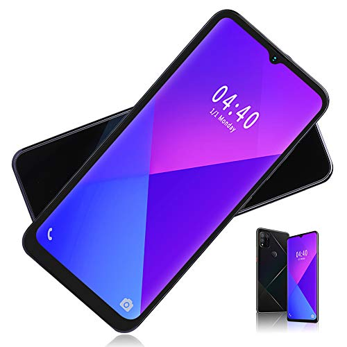 Dpofirs S30 6.7'' Unlocked Smartphone,2 + 16 GB Storage,Support 128GB Memory Extended,Fingerprint Unlock & Facial Unlock,Dual Card Dual Standby,for Android 9.1 - Black
