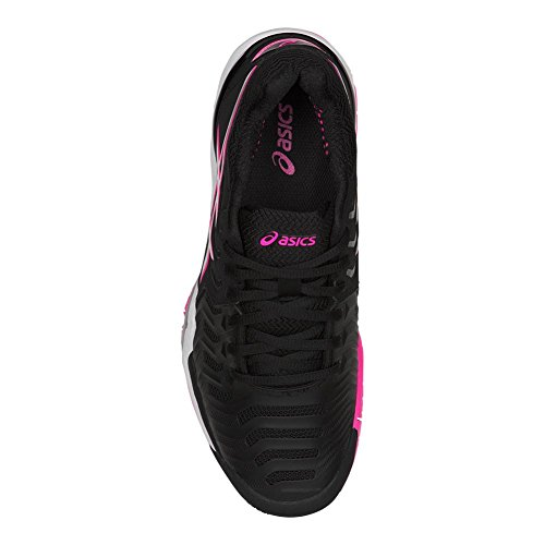 Zapatillas De Tenis Asics Gel-resolution 7 Para Mujer Negro / Plateado / Rosa Fuerte