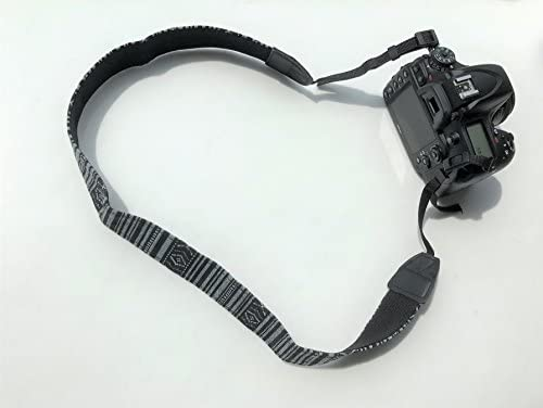 Gadget Place Stylish Camera Strap for Canon EOS 90D 80D 800D 250D Rebel SL3 Kiss X10 T7 2000D 4000D 6D Mark II SL2 200D Kiss X9 77D 9000D T7i Kiss X9i 5D Mark IV T6 1300D 80D