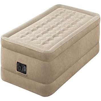 Intex 64456 colchón Hinchable Beige - Colchones hinchables (Beige, Adultos, Felpa, Rectángulo, 99 cm, 191 cm)