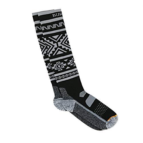 Burton Women's Performance Midweight Snowboard Socks (True Black, S/M (4-7))