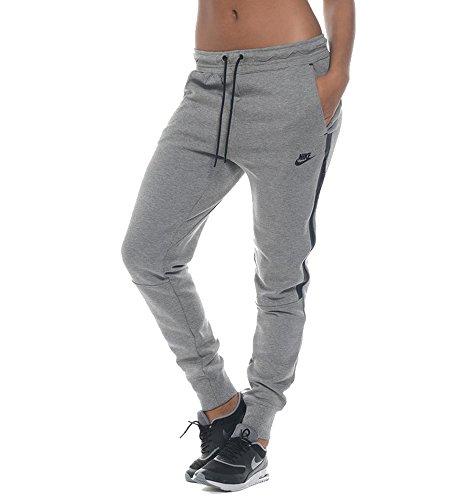 Nike Women's Tech Fleece Pants Carbon Heather/Black Pants XL X 31 by NIKE