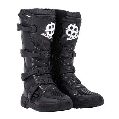 A.R.C. Corona Motocross Boot - Black - Size 10 Men's - Includes Socks