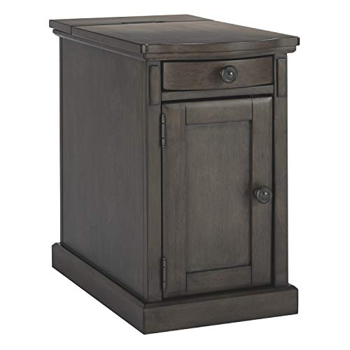 Signature Design by Ashley T127-485 Ashley Furniture Signature Design-Laforn Chairside End Table, Gray