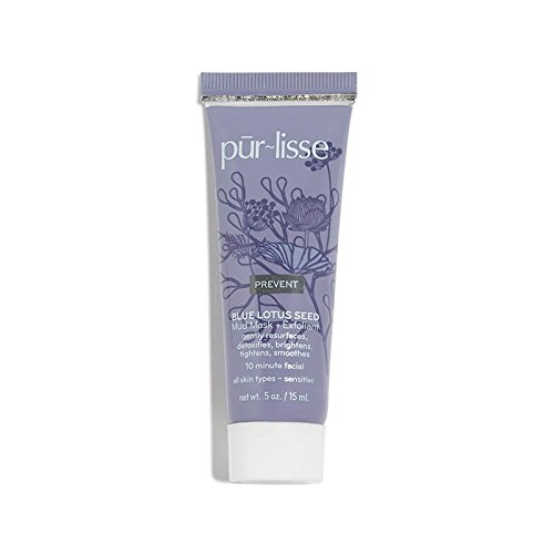 [Purlisse Blue Lotus Seed 5-in-1 Mud Mask + Exfoliant - pur~lisse 10 Minute Facial - Sensitive Skin 0.5 oz] (Facial Exfoliant)