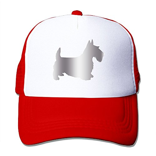 Scottie Dog Platinum Style Mesh Trucker Caps/Hats Adjustable For Unisex ()