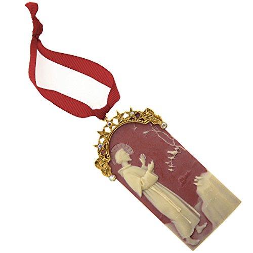 ''Symbols of Faith'' St. Francis of Assisi Cameo Christmas Ornament by Symbols of Faith