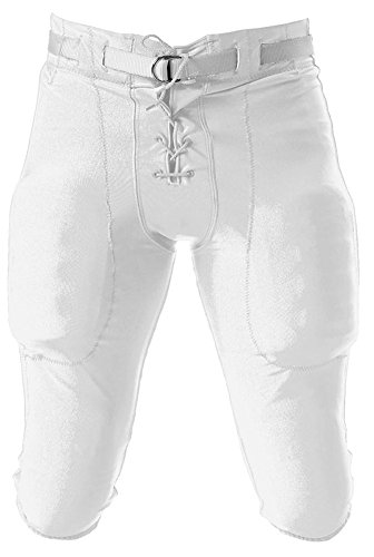 A4 Drop Ship Adult Football Game Pant, 4XL, White ()