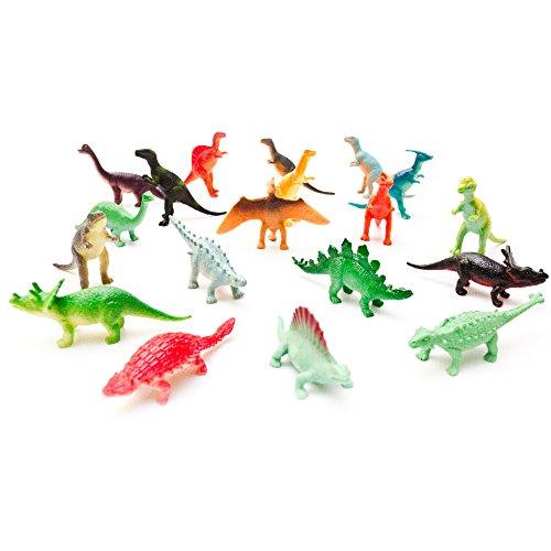 Fun Central AU078 Mini Vinyl Dinosaur Toys - Assorted Styles – 72 count (Dinosaurs Vinyl)